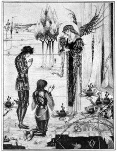 Kneeling before Holy Grail